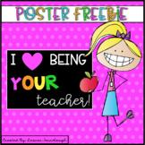 Classroom Poster Freebie