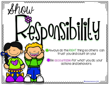 Classroom Poster Freebie: Respect, Responsibility, Resourcefulness