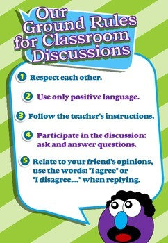 Classroom Poster - Ground Rules for Classroom Discussions