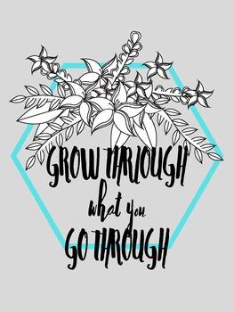 Classroom Poster: Grow through what you go through