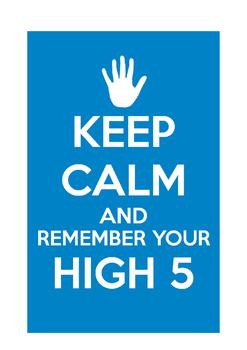 """Classroom Poster """"Hi 5"""""""