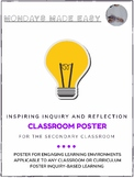 Classroom Poster   INSPIRING INQUIRY AND REFLECTION in the Secondary Classroom