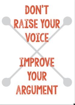 Classroom Poster: Improve your argument