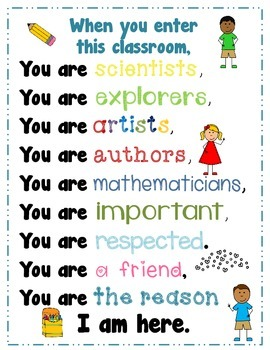 Poster {When you enter this classroom...}