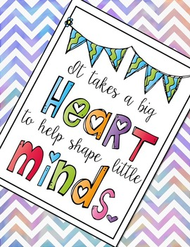 Classroom Poster - It Takes a Big Heart