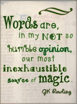 Classroom Poster - JK Rowling Words are Magic