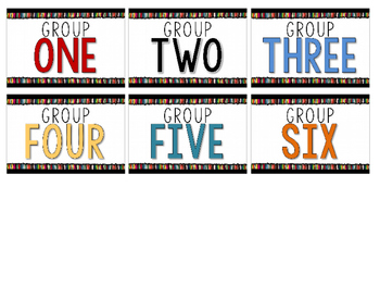 Classroom Poster & Labels for Group Kits {freebie}