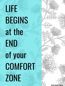Classroom Poster: Life begins at the end of your comfort zone