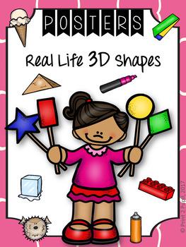 Classroom Poster: Math: 3D Real Life Shapes