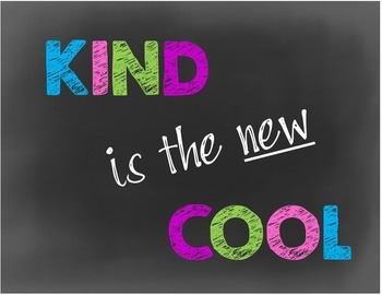 Classroom Poster-Motivational-Chalkboard Style-Kind is the New Cool