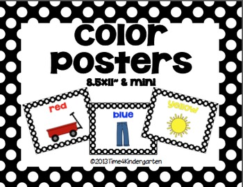 Classroom Poster Pack-Black and White Polka Dot