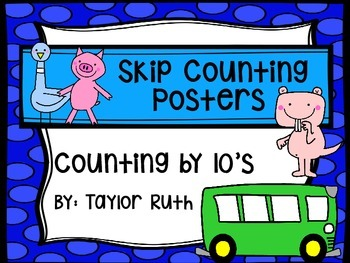 Classroom Poster Pack: Skip Counting by 10's with Mo Willems & Friends