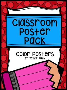 Classroom Poster Pack:Colors (English & Spanish)