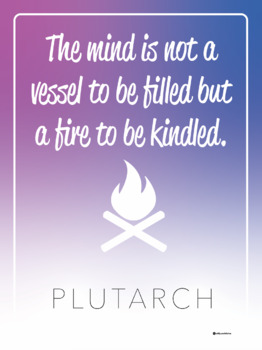 """Classroom Poster - Plutarch Quote - 18"""" X 24"""""""