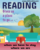 Classroom Poster - Reading Gives Us a Place to Go - Z is f