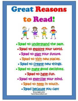 Classroom Poster: Reasons to Read