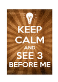 """Classroom Poster """"See 3 Before Me"""""""
