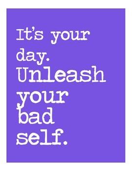 Classroom Poster: Self-esteem