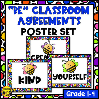 "Poster Set- ""Be"" Classroom Agreements- Editable"
