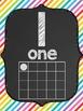 Classroom Poster Set (Chalkboard/Diagonal Rainbow): ABC, N