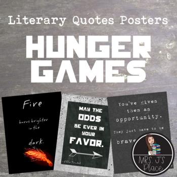 Classroom Poster Set: Hunger Games