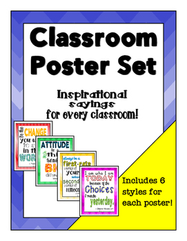 Classroom Poster Set - Inspirational Sayings