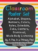 Classroom Poster Set: Jobs, Rules, Schedule, Centers, Dism