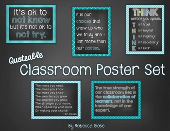 Poster Set {Quotations}