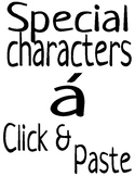 Classroom Poster Set - Special Characters Extension {FREEBIE}