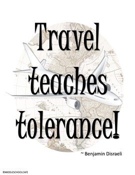 Classroom Poster Set - Travel Themed