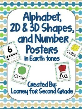Classroom Poster Set in Earth Tones