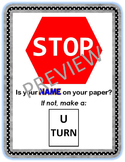 Classroom Poster: Stop! Is Your Name On Your Paper?