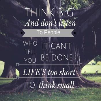 Classroom Poster - Think Big