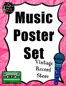 Classroom Poster  {Vintage Record Store} Rainbow Glitter