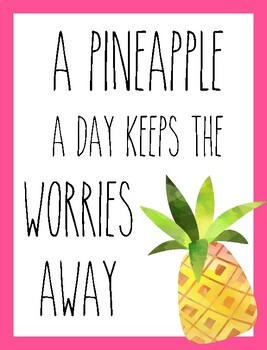 Classroom Poster / Wall Art - (A Pineapple a Day)