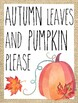 Classroom Poster / Wall Art - (Autumn Leaves and Pumpkins)