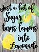 Classroom Poster / Wall Art - (Just a Bit of Sugar)