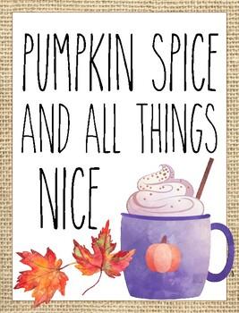 Classroom Poster / Wall Art - (Pumpkin Spice)