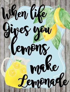 Classroom Poster / Wall Art - (When Life Hands You Lemons)