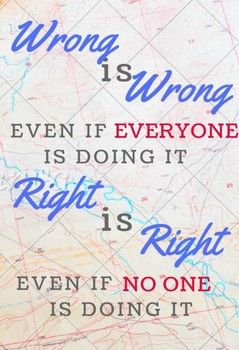 Classroom Poster - Wrong is Wrong