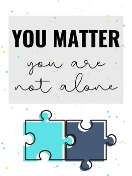 Classroom Poster: You Matter