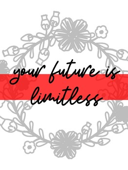Classroom Poster: Your future is limitless