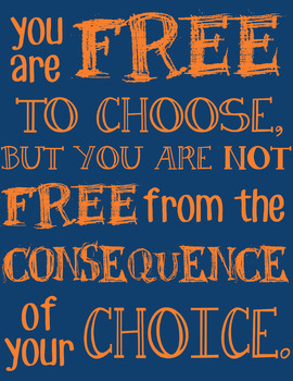 Classroom Poster about Choices & Consequences