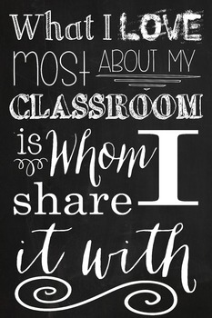 Classroom Poster in Chalkboard theme