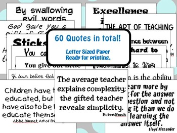 Classroom Posters: A Collection of Quotes for Your Classroom Wall #4