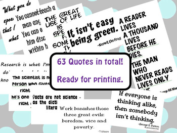 Classroom Decor Posters: A Collection of Quotes for Your Classroom Walls #5