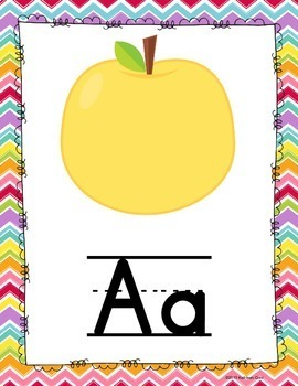 Classroom Posters - Alphabet, numbers and shapes {Chevron Theme}