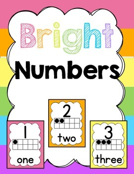 Classroom Posters (Bright): Numbers