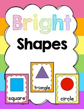 Classroom Posters (Bright): Shapes