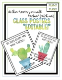 Classroom Posters!  CACTUS Theme!  **EDITABLE!**